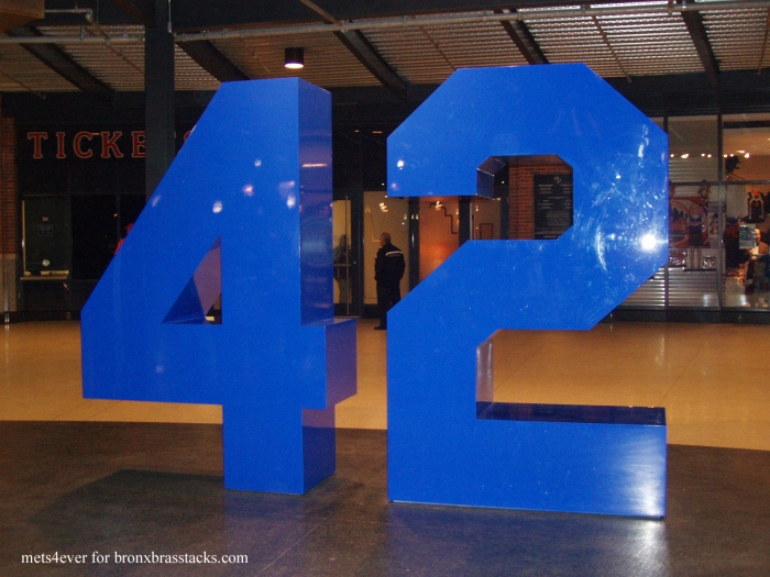 Jackie Robinson's number in the Rotunda at Citi Field