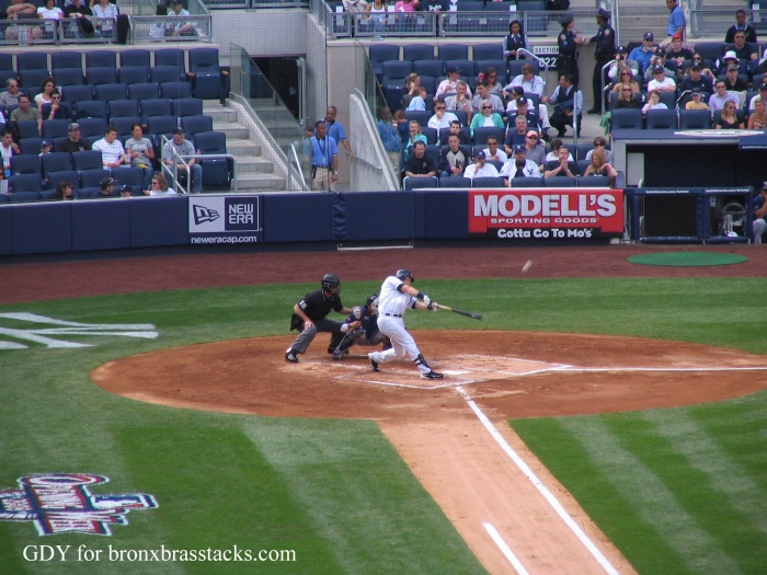 Mark Teixeira Home Run at th New Yankee Stadium