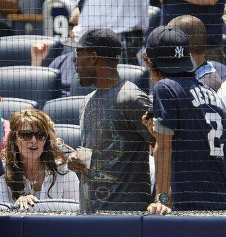 Sarah Palin at Yankee Stadium.  What a fox.